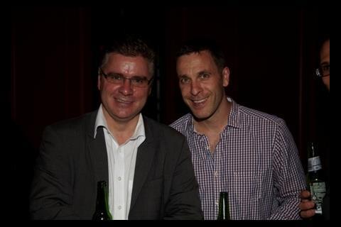 Screen group editor Conor Dignam with De Lane Lea re-recording mixer Chris Burdon